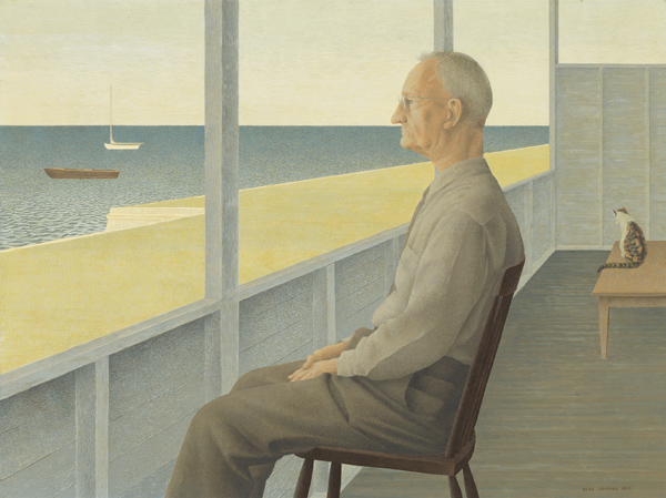 Man on Verandah — painting by Alex Colville
