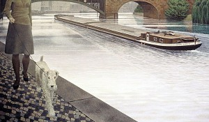 River Spree — painting by Alex Colville