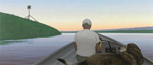 On a River — painting by Alex Colville