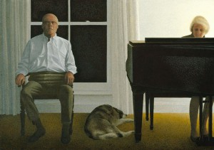 Living Room — painting by Alex Colville